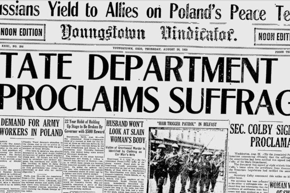 Suffrage Headline